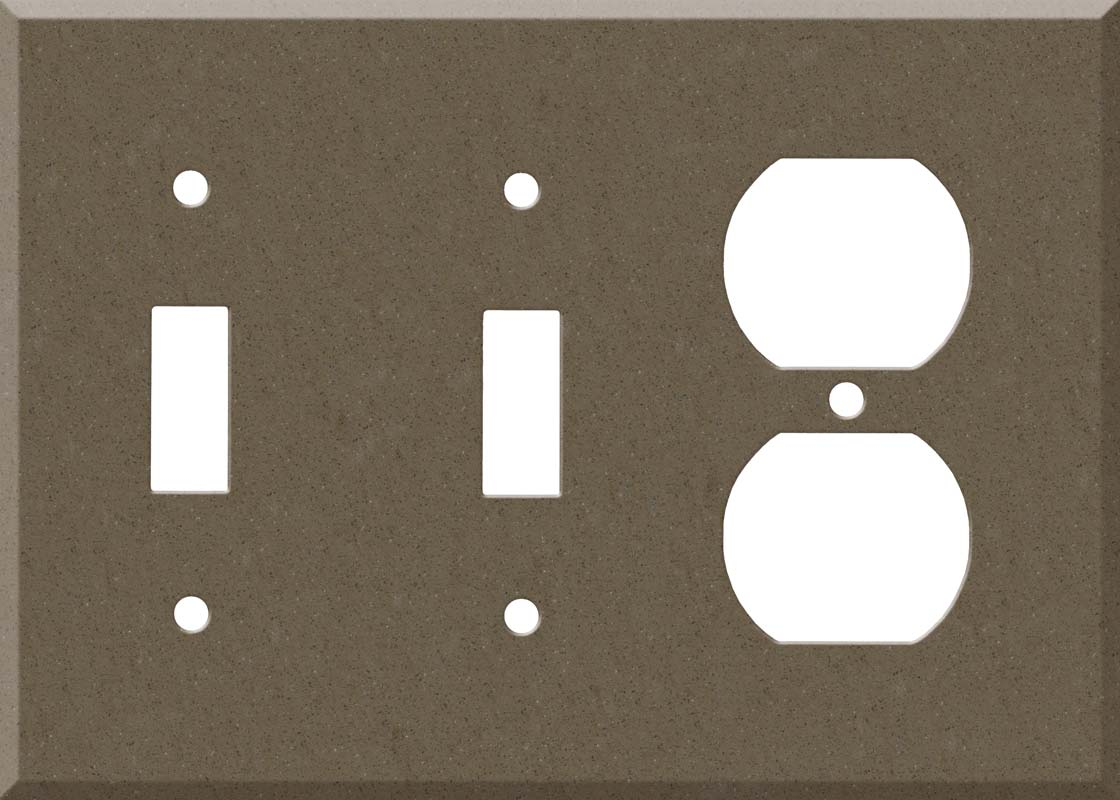 Corian Suede Double 2 Toggle / Outlet Combination Wall Plates