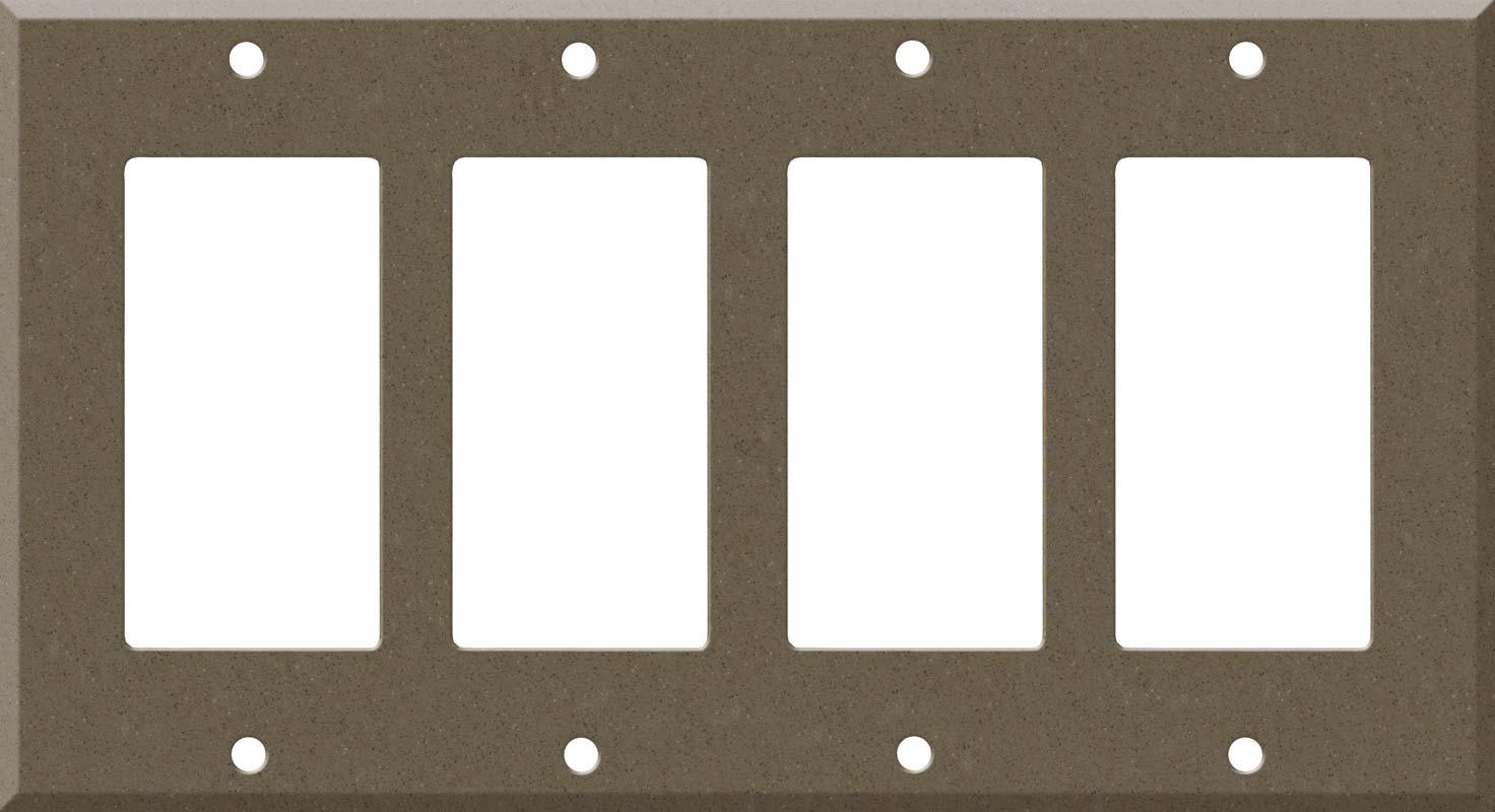 Corian Suede 4 Rocker GFCI Decorator Switch Plates