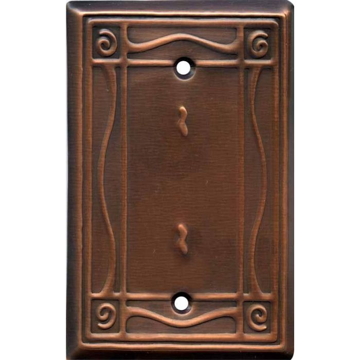 Border Antique Copper Blank Wall Plate Cover