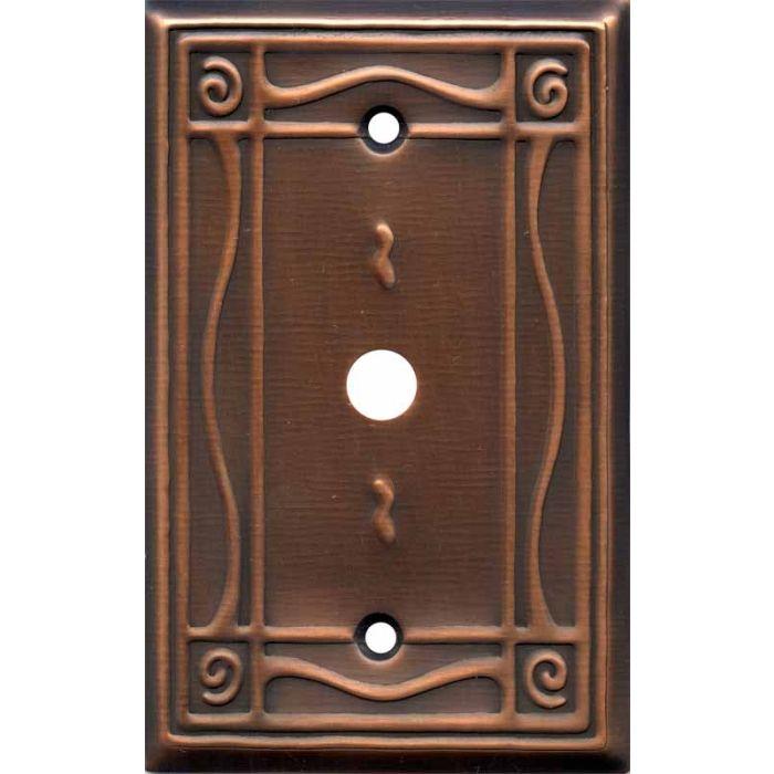 Border Antique Copper Coax Cable TV Wall Plates