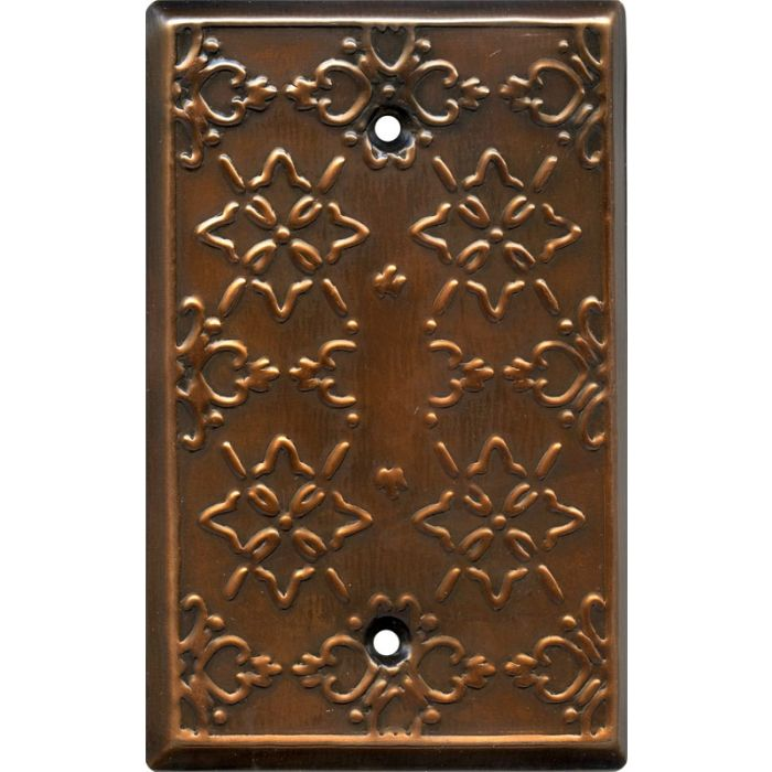 Baroque Antique Copper Blank Wall Plate Cover