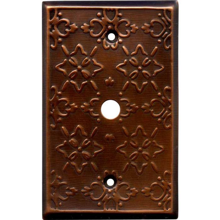 Baroque Antique Copper Coax Cable TV Wall Plates