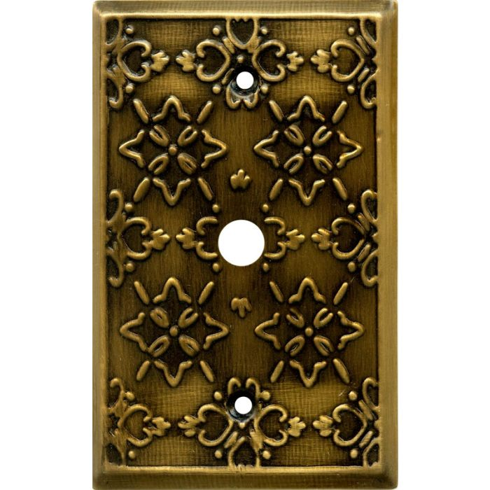 Baroque Antique Brass Coax Cable TV Wall Plates