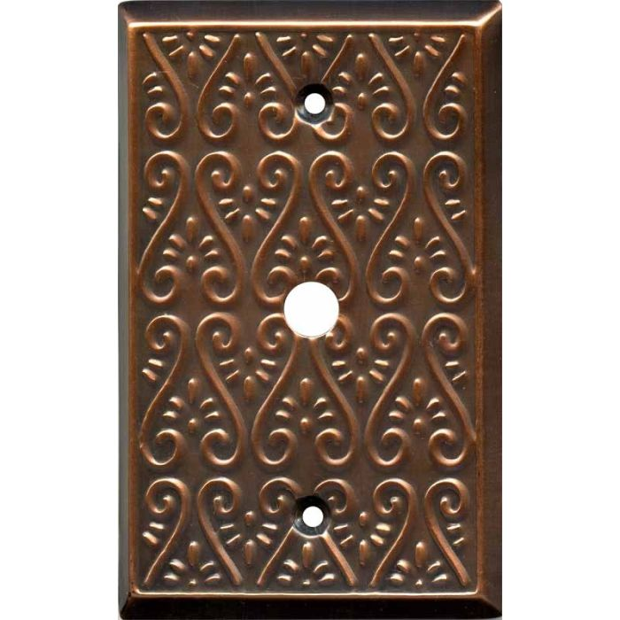 Filigree Antique Copper Coax Cable TV Wall Plates