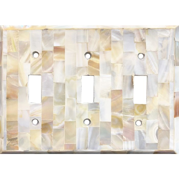 Beveled Edge Mother of Pearl - 3 Toggle