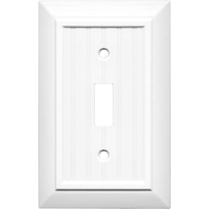 Beadboard White Single 1 Toggle Light Switch Plates