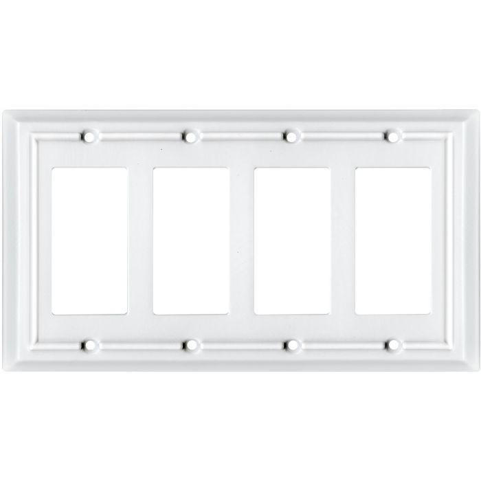 Architectural White 4 Rocker GFCI GFI Rockertor Switch Plates