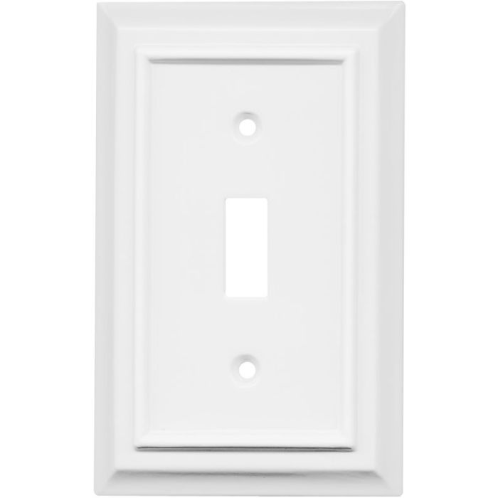 Architectural White Single 1 Toggle Light Switch Plates