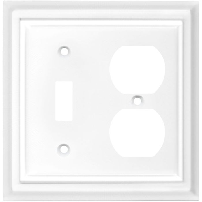 Architectural White Combination 1 Toggle / Outlet Cover Plates