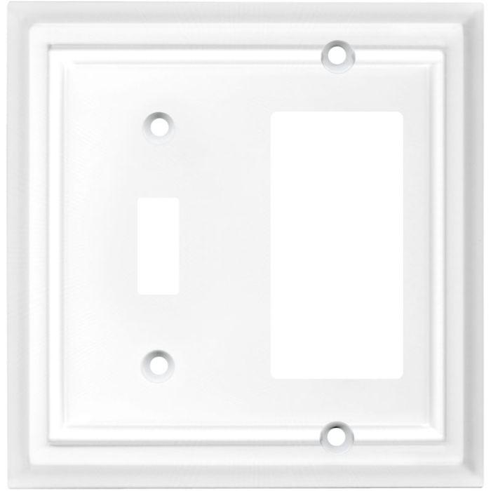 Architectural White Combination 1 Toggle / Rocker GFCI Switch Covers