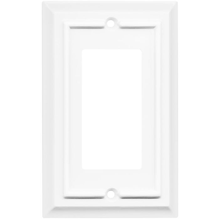 Architectural White Single 1 Gang GFCI Rocker GFI Rocker Switch Plate Cover