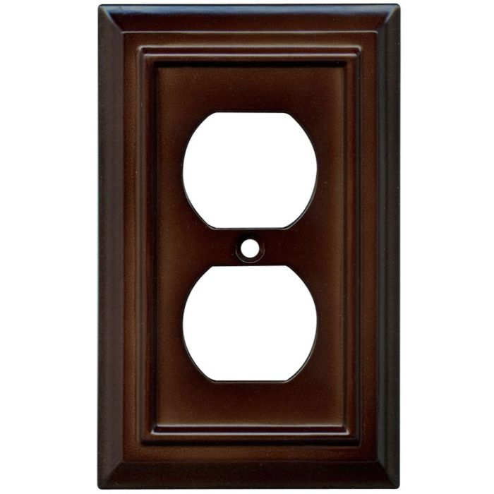 Architectural Espresso 1 Gang Duplex Outlet Cover Wall Plate