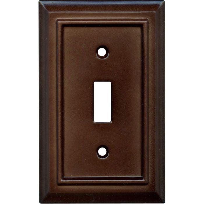 Architectural Espresso Single 1 Toggle Light Switch Plates