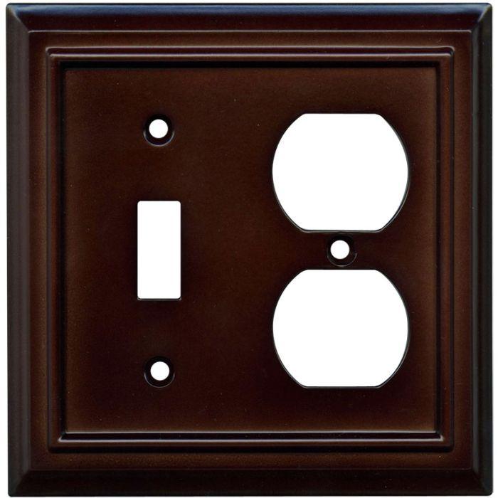 Architectural Espresso Combination 1 Toggle / Outlet Cover Plates