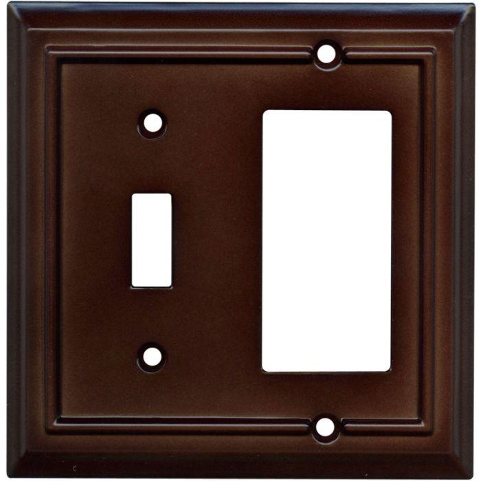 Architectural Espresso Combination 1 Toggle / Rocker GFCI Switch Covers