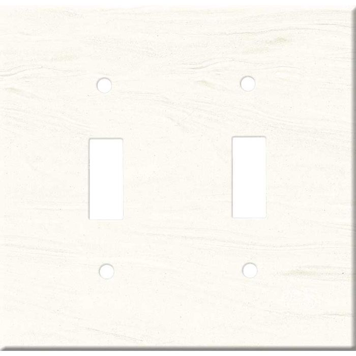 Corian Cirrus White Double 2 Toggle Switch Plate Covers