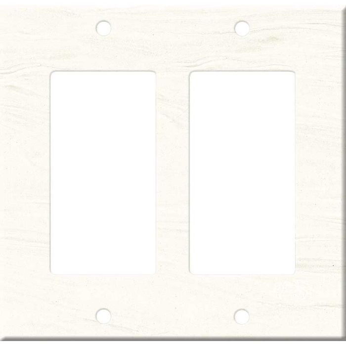 Corian Cirrus White 2 Gang Double GFCI Rocker Decorator Wallplates