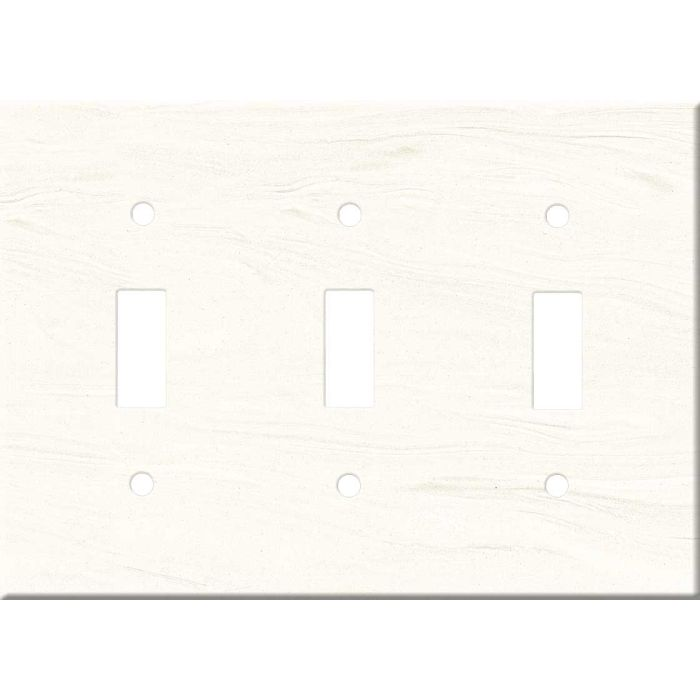 Corian Cirrus White Triple 3 Toggle Light Switch Covers