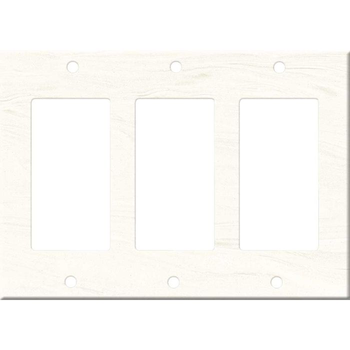 Corian Cirrus White Triple 3 Rocker GFCI Decora Light Switch Covers
