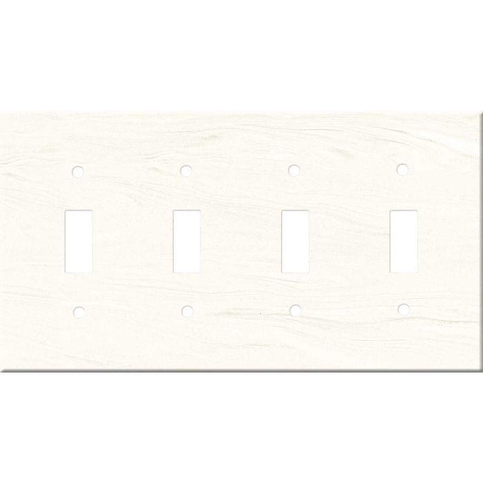 Corian Cirrus White Quad 4 Toggle Light Switch Covers
