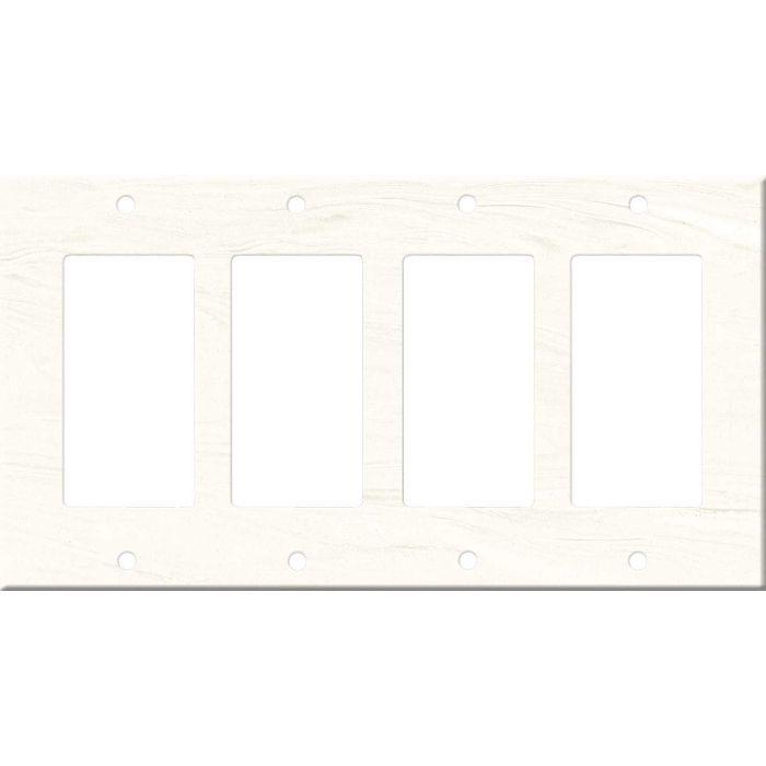 Corian Cirrus White 4 Rocker GFCI Decorator Switch Plates