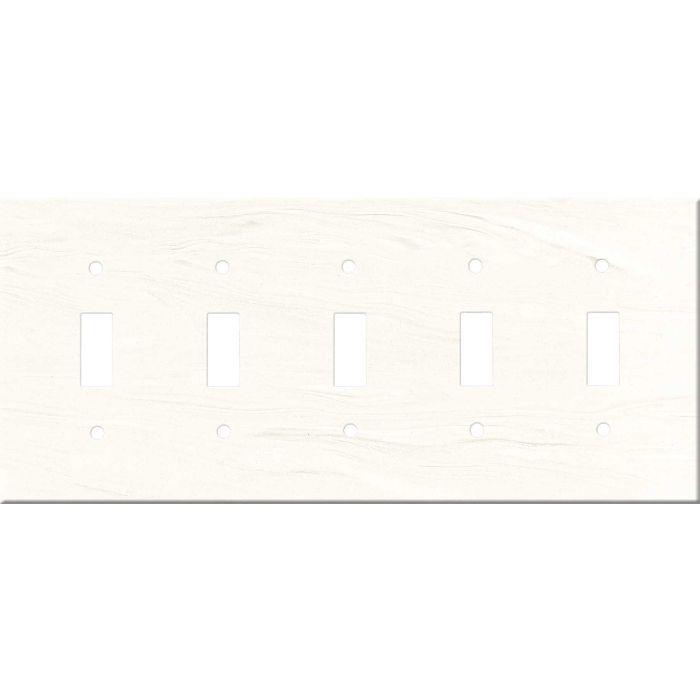 Corian Cirrus White 5 Toggle Wall Switch Plates