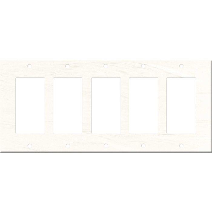 Corian Cirrus White 5 GFCI Rocker Decora Switch Covers