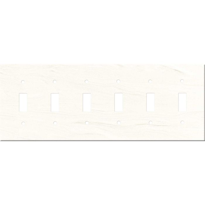Corian Cirrus White 6 Toggle Wall Plate Covers