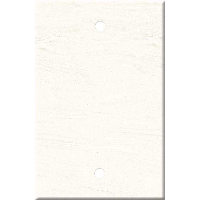 Corian Cirrus White Blank Wall Plate Cover