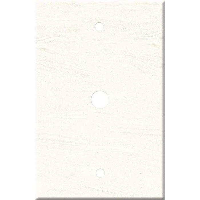 Corian Cirrus White Coax Cable TV Wall Plates
