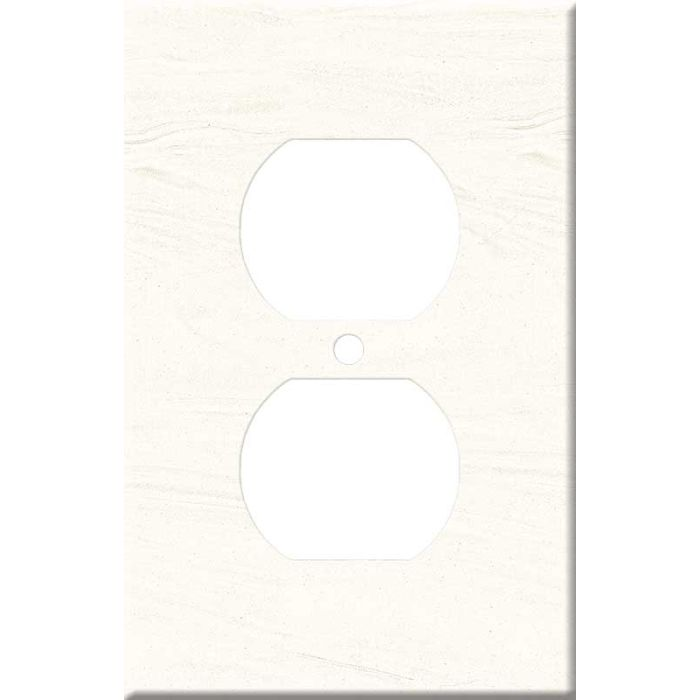 Corian Cirrus White 1 Gang Duplex Outlet Cover Wall Plate