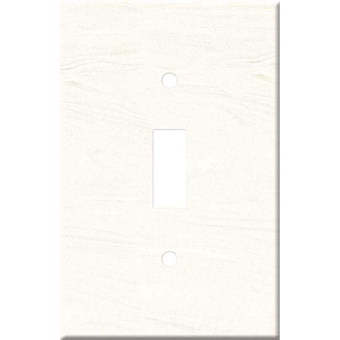 Corian Cirrus White Single 1 Toggle Light Switch Plates