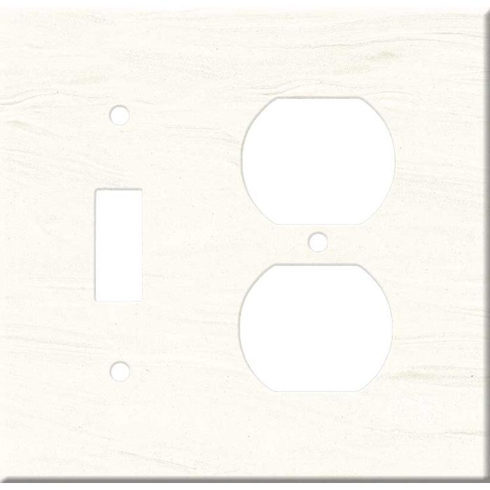 Corian Cirrus White Combination 1 Toggle / Outlet Cover Plates