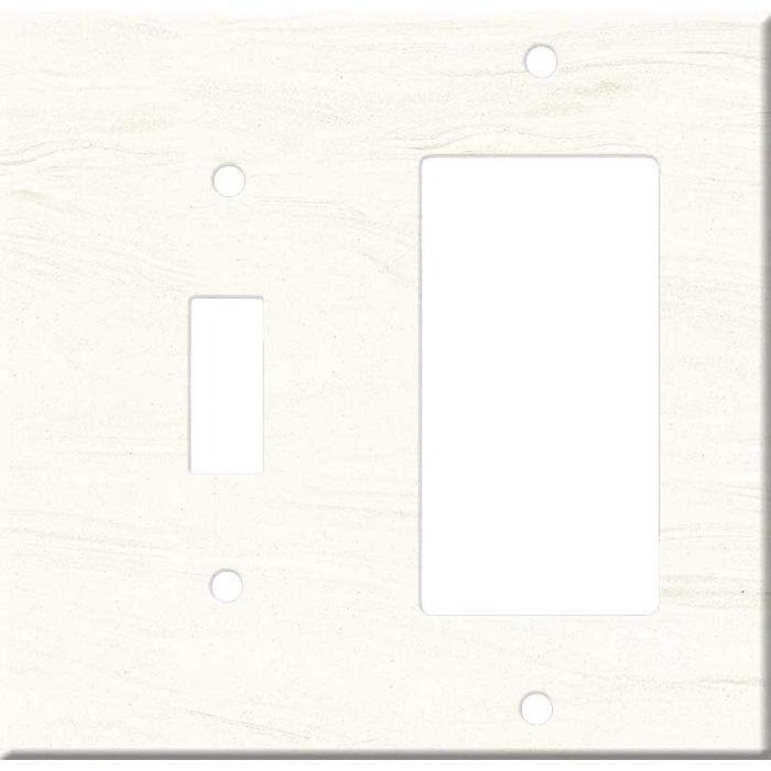 Corian Cirrus White Combination 1 Toggle / Rocker GFCI Switch Covers