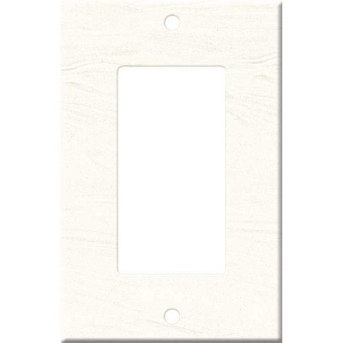 Corian Cirrus White Single 1 Gang GFCI Rocker Decora Switch Plate Cover