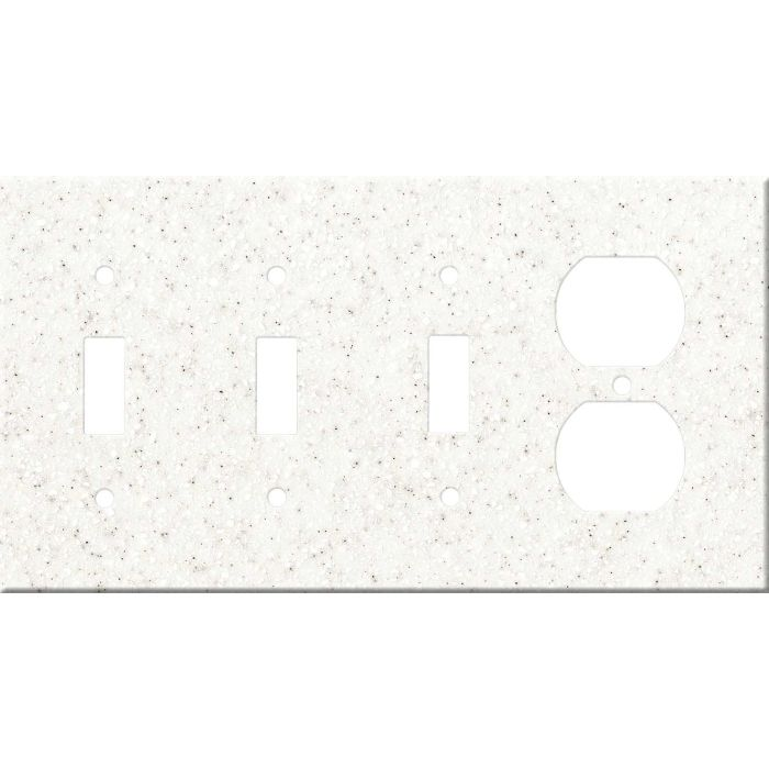 Corian Everest Combination Triple 3 Toggle / Outlet Wall Plate Covers