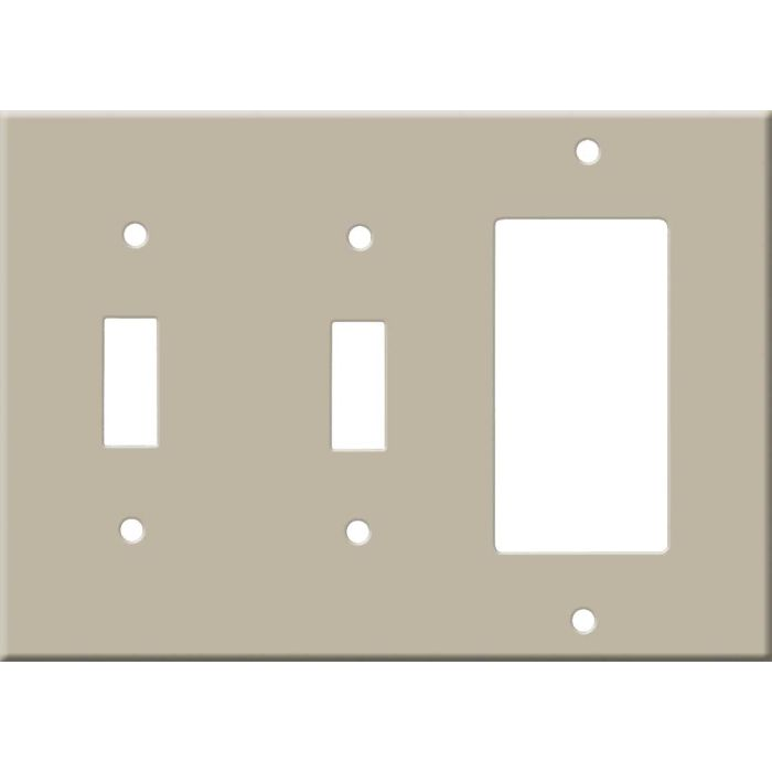 Corian Elegant Gray Double 2 Toggle / 1 GFCI Rocker Combo Switchplates