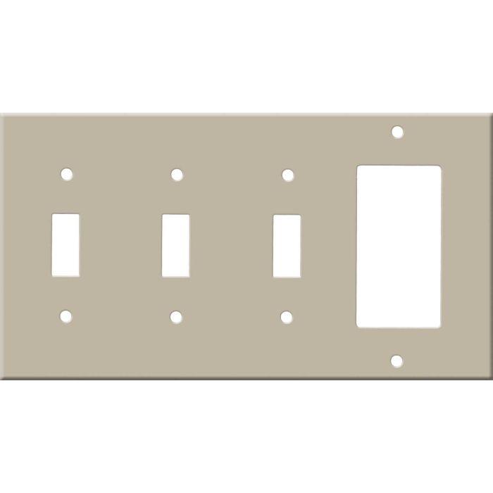 Corian Elegant Gray Triple 3 Toggle / 1 Rocker GFCI Switch Covers