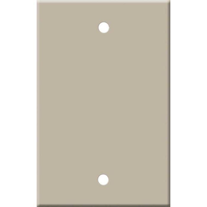 Corian Elegant Gray Blank Wall Plate Cover
