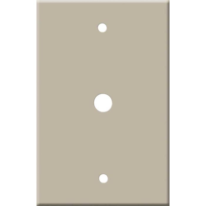 Corian Elegant Gray Coax Cable TV Wall Plates