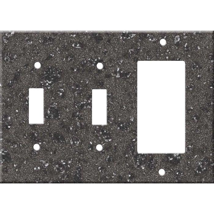 Corian Graylite Double 2 Toggle / 1 GFCI Rocker Combo Switchplates