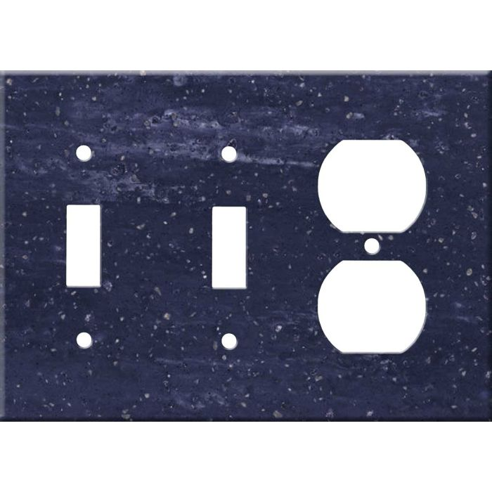 Corian Elderberry Double 2 Toggle / Outlet Combination Wall Plates