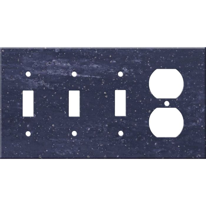 Corian Elderberry Combination Triple 3 Toggle / Outlet Wall Plate Covers