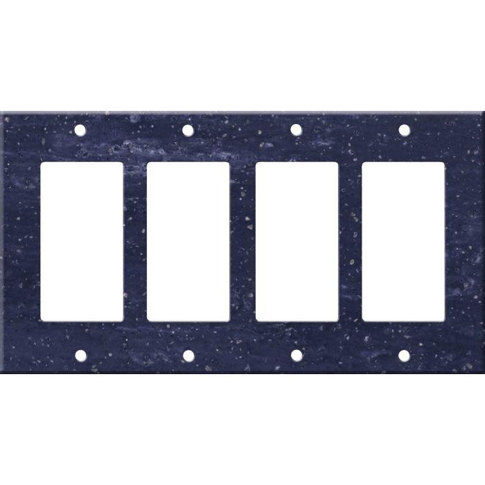 Corian Elderberry 4 Rocker GFCI Decorator Switch Plates