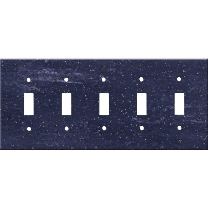 Corian Elderberry 5 Toggle Wall Switch Plates