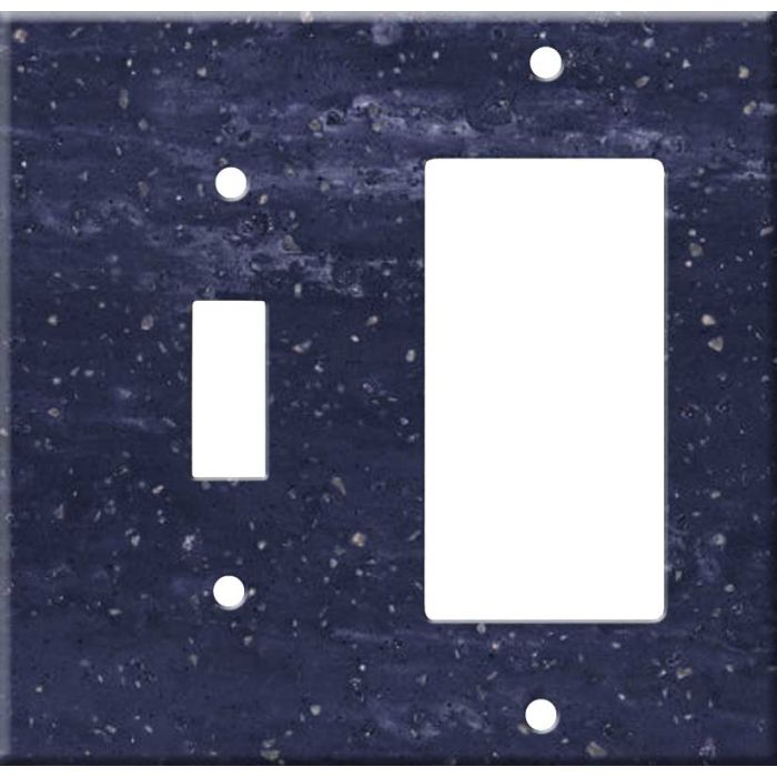 Corian Elderberry Combination 1 Toggle / Rocker GFCI Switch Covers