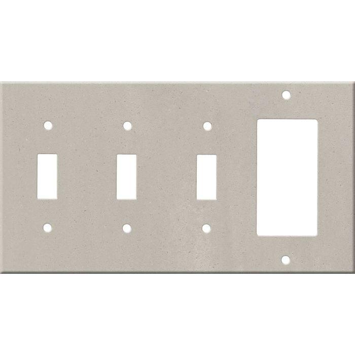 Corian Neutral Concrete Triple 3 Toggle / 1 Rocker GFCI Switch Covers