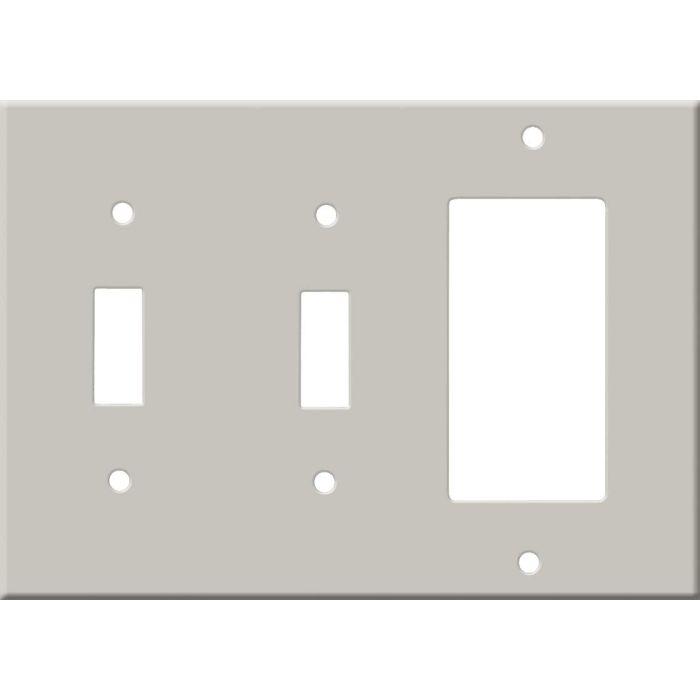 Corian Pearl Gray Double 2 Toggle / 1 GFCI Rocker Combo Switchplates