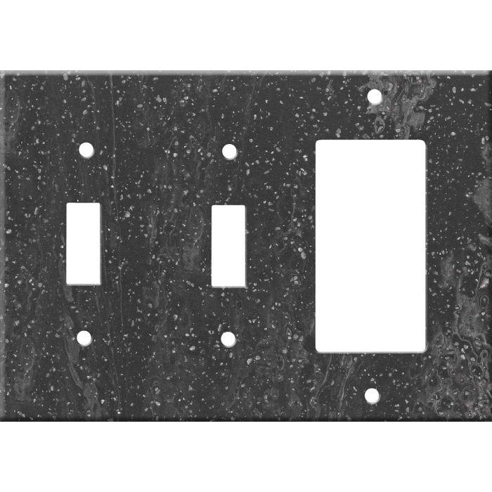 Corian Cosmos Prima Double 2 Toggle / 1 GFCI Rocker Combo Switchplates