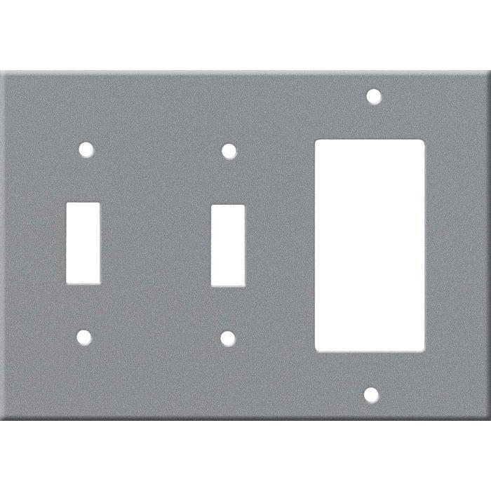 Corian Silverite Double 2 Toggle / 1 GFCI Rocker Combo Switchplates
